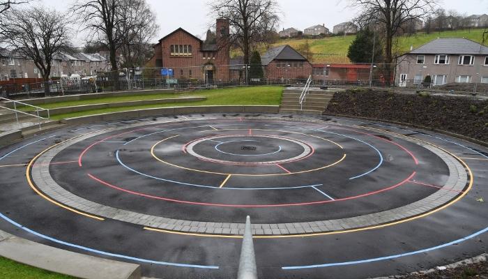 Croftfoot PS amphitheatre